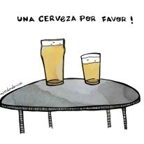 una cerveza porfavor miredondemire