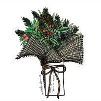 xmas market misletoe bouquet miredondemire